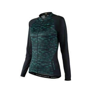 camisa-de-ciclismo-feminina-manga-longa-freeforce-pretoa-com-verde-modelo-flaw-comfort-com-ziper-inteiro-automatico-3-bolsos-traseiros