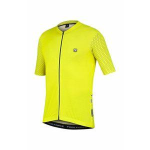 camisa-de-ciclismo-free-force-classic-grids-amarela-de-alta-qualidade-resistencia-protecao-uv-bolsos-traseiros-detalhes-refletivos