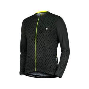 camisa-de-ciclismo-manga-longa-free-forece-preto-com-cinza-escuro-detalhes-verdes-de-alta-qualidade-resistencia-com-bolsos-traseiros