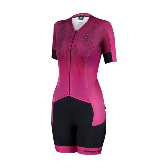 macaquinho-feminino-de-ciclismo-free-force-modelo-new-cherry-rosa-com-preto-de-alta-qualidade-com-forro-invert-em-gel