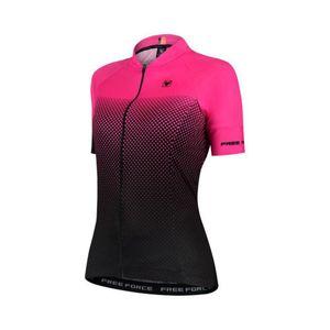 camisa-de-ciclismo-feminina-free-force-de-alta-qualidade-preta-com-rosa-confortavel-modelagem-comfort-rosa-com-preto-com-ziper-automarico