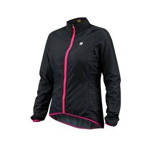corta-vento-feminina-de-ciclismo-free-force-modelo-sport-preto-e-rosa-com-linhas-refletivas-confortavel-de-qualidade-resistente-com-ziper-automatico