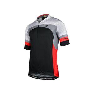 camisa-de-ciclismo-de-alta-qualidade-free-force-crafty-preta-com-mescla-e-vermelho-mangas-longas-protecao-uv-bolsos-e-ziper-inteligente