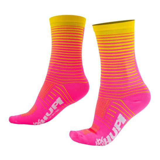 meia-de-ciclismo-cano-medio-de-alta-qualidade-hupi-hyperline-amarelo-com-rosa-para-pes-pequenhos-34-a-38-semi-compressao