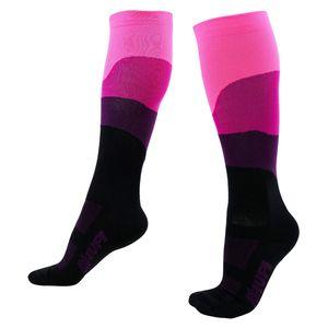 meia-de-ciclismo-cano-longo-com-30-cm-de-alta-qualidade-semi-compressao-preto-com-rosa-masculino-e-feminino-hupi