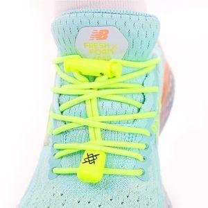 cadarco-elastico-hupi-laces-amarelo-neon-confortavel-facil-instalacao-para-corrida-triathlon-com-regulador-e-ponteiras
