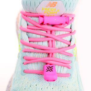 cadarco-elastico-hupi-laces-rosa-neon-solido-para-corrida-triathlon-com-regulador-e-ponteiras-confortavel