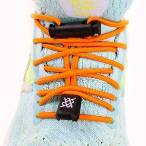 cadarco-elastico-hupi-laces-laranja-solido-liso-para-tenis-de-corrida-confortavel-de-qualidade-com-regulador-e-ponteiras-acabamentos