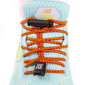 cadarco-elastico-hupi-laces-confortavel-para-tenis-de-corrida-triathlon-laranja-risca-risco-preto-com-regulador-e-ponta-de-acabamento