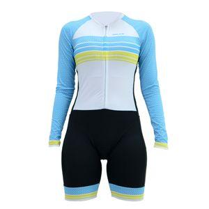 macaquinho-feminino-de-ciclismo-hupi-tieta-manga-longa-preto-com-azul-branco-e-amarelo-confortavel-comforro-emgel-protecao-uv-ziper-inteligente