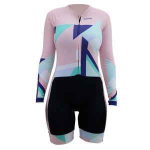 macaquinho-de-ciclismo-feminino-de-manga-longa-hupi-milao-rosa-salmao-com-preto-e-verde-ziper-grande-inteligente-protecao-solar-uv-50--mtb-mountain-bike-speed