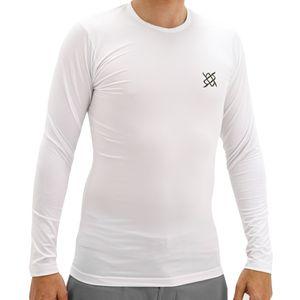 segunda-pele-de-ciclismo-corrida-caminhada-hupi-manga-longa-protecao-uv-solar-50--branco-com-logo