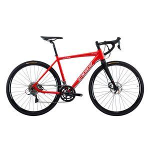bicicleta-speed-road-freio-a-disco-oggi-velloce-2021-shimano-claris-2x8-aluminio-com-garfo-em-carbono-vermelho-com-branco