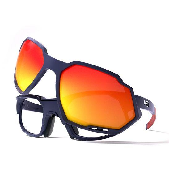 oculos-de-sol-e-de-grau-para-bicicleta-mountain-bike-e-speed-corrida-hb-hot-buttered-modelo-rush-azul-escuro-com-lentes-vermelhas