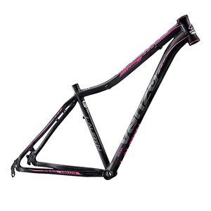 quadro-mountain-bike-aro-29-feminino-de-qualidade-venzo-modelo-lauryn-preto-com-cinza-e-rosa-em-aluminio-6061-para-freio-a-disco